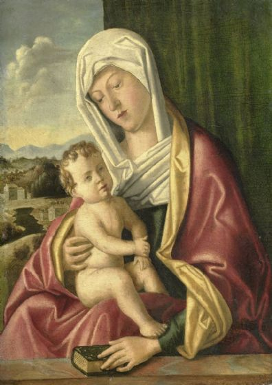 Bellini, Giovanni: Madonna with Child. Fine Art Print/Poster. Sizes: A4/A3/A2/A1 (001867)